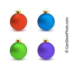 satz, weihnachten, kugeln