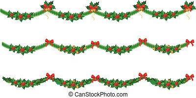 satz, weihnachtsgirlande