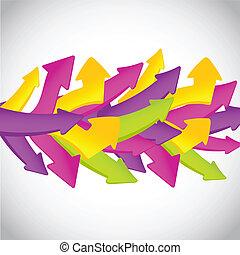 satz, weinlese, vektor, arrows., dein, design.