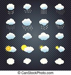 satz, wolkenhimmel, heiligenbilder, sonne, regen, wetter
