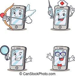 satz, zeichen, amor, geek, iphone, krankenschwester, vergrößern