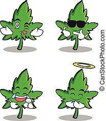 satz, zeichen, marihuana, sammlung, karikatur