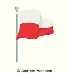 satz, zeichen., web., abbildung, fahne, vektor, polnisch, internationales symbol, bestand