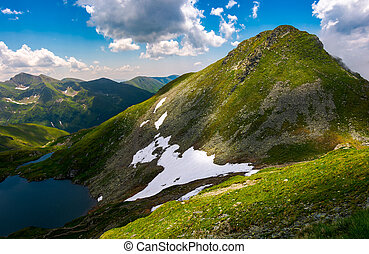 saua caprei peak of Fagarasan mountains - Saua Caprei peak...