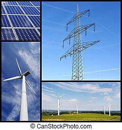 saubere energie, collage