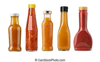 sauce, bouteille, salade