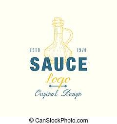 Sauce logo original design estd, badge can be used for menu, restaurant, shop, market vector Illustration on a white background