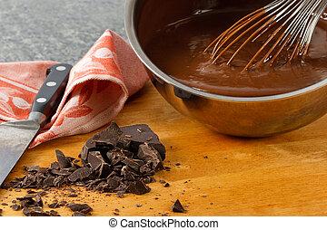 Sauce Pan With Chocolate Pudding - Rich, creamy chocolate ...