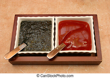 Sauces in a cup