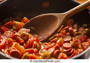 Sauce with tomato and olives 2