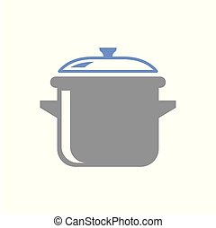 Saucepan icon on white background for graphic and web design, Modern simple vector sign. Internet concept. Trendy symbol for website design web button or mobile app.