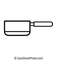 saucepan icon vector design template
