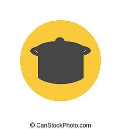 Saucepan illustration silhouette