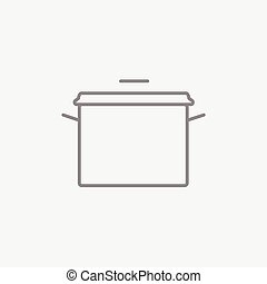 Saucepan line icon. - Saucepan line icon for web, mobile and...