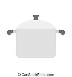 Saucepan on white background. Kitchen utensils. Utensils for cooking