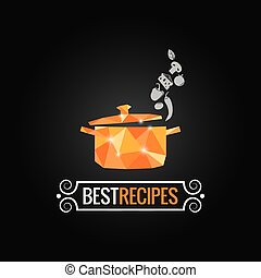 saucepan poly design background