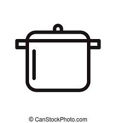 saucepan thin line vector icon