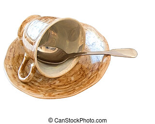 saucer with cup