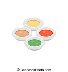 sauces  flat color icon