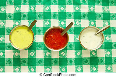 Sauces - Mint, tomato and cream sauces