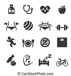 saudável, ícone