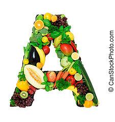 saudável, alfabeto, -, a1