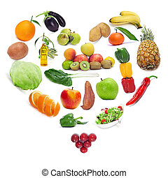 saudável, alimento, Amor
