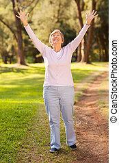 saudável, aposentadoria, estilo vida
