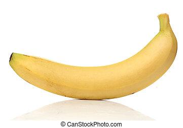 saudável, banana, isolado, branco