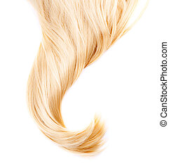 saudável, cabelo, branca, isolado, loura
