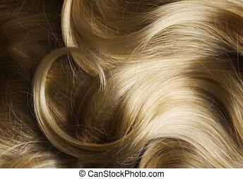 saudável, cabelo, loura