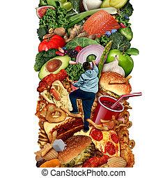 saudável, comer