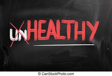 saudável, conceito