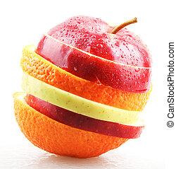 saudável, conceito, comer