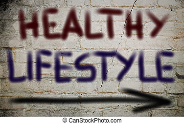 saudável, conceito, estilo vida