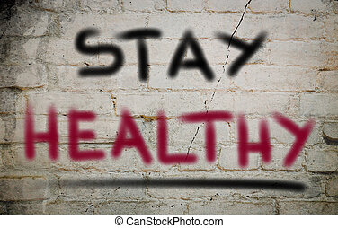 saudável, conceito, ficar