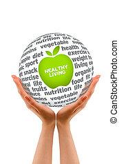 saudável, esfera, estilo vida