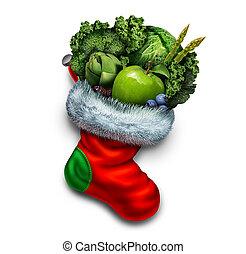 saudável, feriado, comer