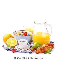 saudável, fresco, pequeno almoço, copyspace
