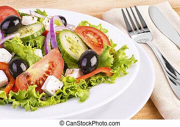saudável, fresco, salada