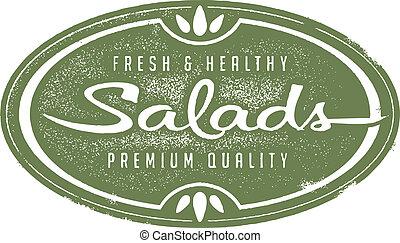 saudável, fresco, saladas