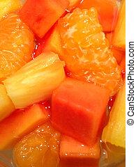 saudável, fruta misturada, salada