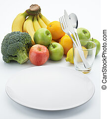 saudável, frutas