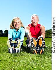 saudável, ginásio, lifestyle., condicão física