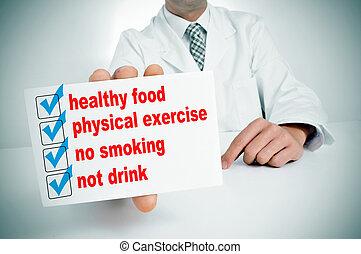 saudável, hábitos