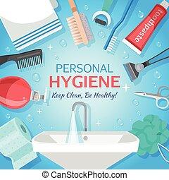 saudável, higiene pessoal, fundo