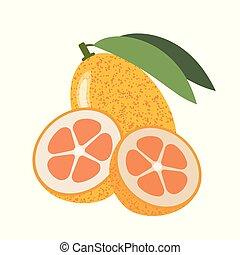 saudável, kumquat, orgânica