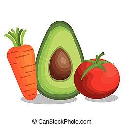 saudável, legumes frescos