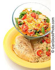 saudável, luz, almoço