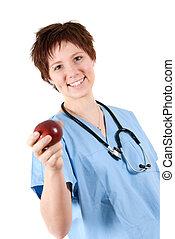 saudável, maçã